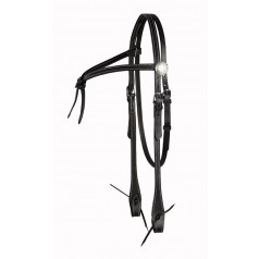 Western bridle with knot detail browband
