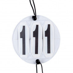 Interchangeable round competition numbers
