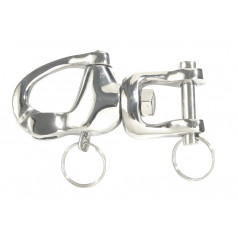 Stainless steel swivel quick-release shackle