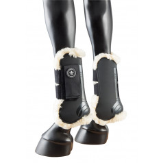 PFIFF tendon boots with synthetic fur