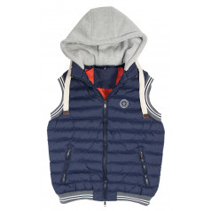 PFIFF quilted waistcoat with removable hood