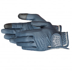 """PFIFF """"Crystal Crown"""" riding gloves with rhinestones"""