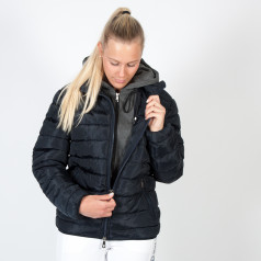PFIFF quilted jacket with fabric hood