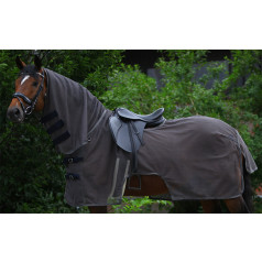 PFIFF riding fly blanket with roll-up neck piece