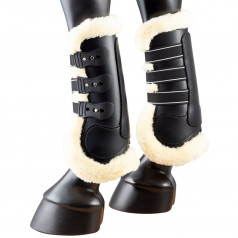 PFIFF Synthetic Leather Brushing Boots with Faux Fur