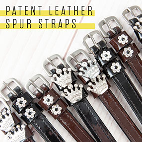 PFIFF patent leather spur straps