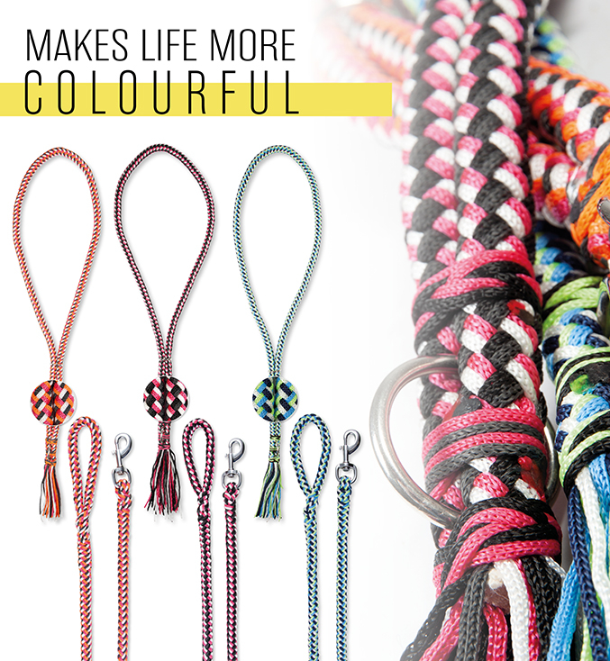 PFIFF woven lunge line neck rope